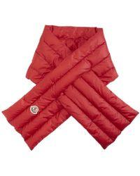 Moncler - Foulard en duvet rouge - Lyst