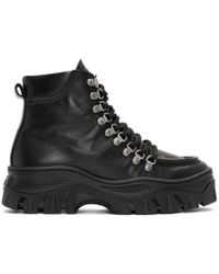 MSGM - Black Chunky Lace-up Boots - Lyst