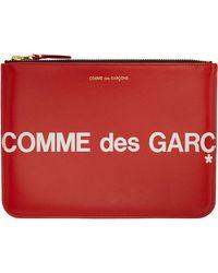 Comme des Garçons - レッド ラージ Huge ロゴ ポーチ - Lyst