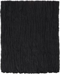 Totême ブラック シルク Crinkled スカーフ