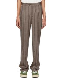 Éditions MR - Brown Stripe High-waisted Trousers - Lyst