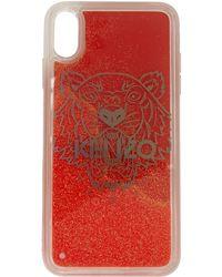 KENZO レッド グリッター タイガー ヘッド Iphone Xs ケース - マルチカラー