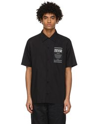 Versace Jeans Couture ブラック Warranty Bowling ショート スリーブ シャツ