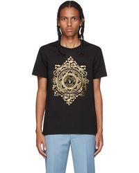 Versace Jeans Couture - ブラック & ゴールド V-emblem T シャツ - Lyst