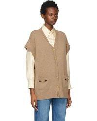 Gucci Brown Cashmere Cardigan - Multicolour