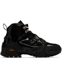 1017 ALYX 9SM ブラック エナメル ハイキング ブーツ