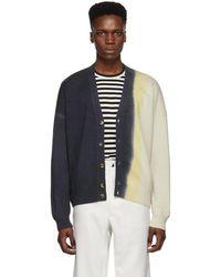 Loewe Indigo Cashmere Cropped Cardigan - Blue