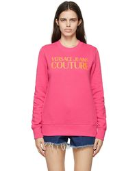 Versace Jeans Couture - ピンク ロゴ スウェットシャツ - Lyst