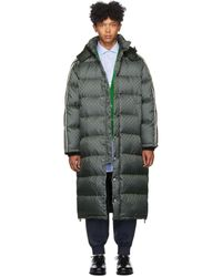 Gucci Manteau en duvet vert GG Jacquard