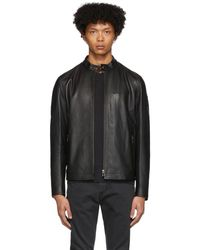 Belstaff Black Leather Reeve Jacket
