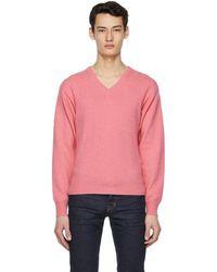 Tom Ford - ピンク カシミア V ネック セーター - Lyst