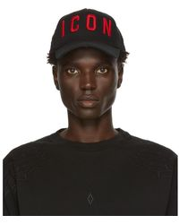 DSquared² Black And Red Icon Cap