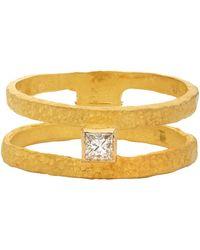 Elhanati Bague à diamant de pureté VVS dorée Roxy Graphic - Métallisé