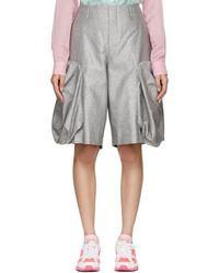 Comme des Garçons - Silver Bulbous Shorts - Lyst