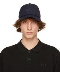 Y-3 - ネイビー ロゴ キャップ - Lyst