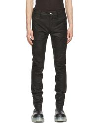 Rick Owens Black Suede Tyrone Trousers