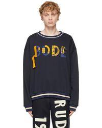 Bode ネイビー ロゴ スウェットシャツ - ブルー