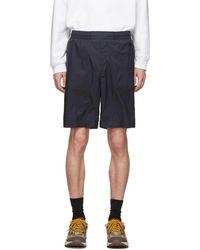 Acne Studios Navy Ripstop Shorts - Blue