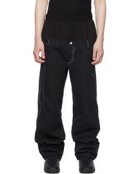 Spencer Badu Denim Oversized Trousers - Black