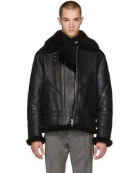 496c6ebff1063 Acne Studios Black Ian Shearling Jacket in Black for Men - Lyst