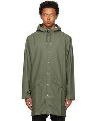 Rains カーキ ロング ジャケット - グリーン