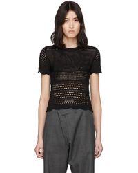 Amiri Black Love Crochet T-shirt