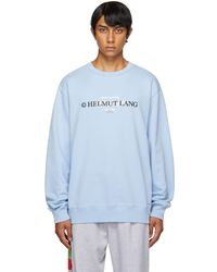 Helmut Lang ブルー Layer ロゴ スウェットシャツ