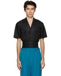 GmbH ブラック ハーネス カラー シャツ