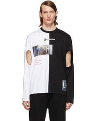 Burberry Montage プリント Tシャツ - ブラック