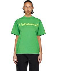 Aries New Balance Edition グリーン Unbalanced T シャツ