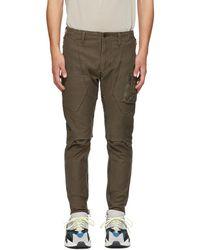 Julius - Khaki Stretch Back Cargo Trousers - Lyst