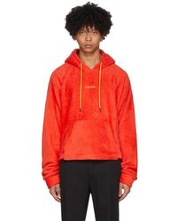 Pyer Moss - Red Sherpa Cropped Hoodie - Lyst