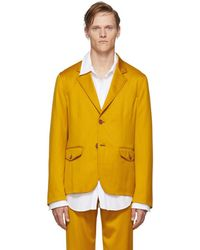 Sies Marjan Yellow Virgin Boden Twill Blazer