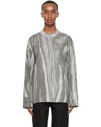 Nicholas Daley T-shirt à manches longues en coton gris