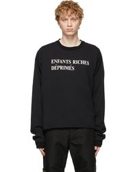Enfants Riches Deprimes Black Classic Logo Long Sleeve T-shirt
