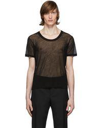 Saint Laurent T-shirt transparent noir