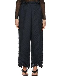 Issey Miyake Black Tectorum Pants