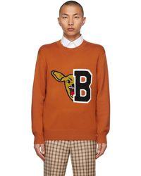 Burberry オレンジ セーター