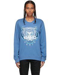 KENZO ブルー Original Tiger スウェットシャツ