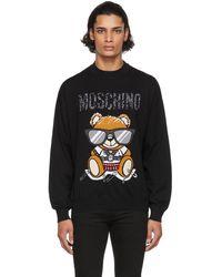 Moschino ブラック ロゴ セーター