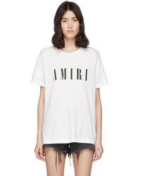 Amiri - ホワイト ロゴ コア T シャツ - Lyst