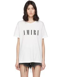 Amiri ホワイト ロゴ コア T シャツ
