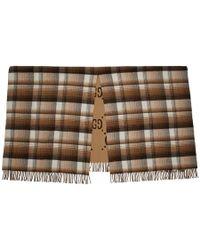 Gucci Brown Check GG Blanket - Natural