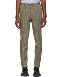 KENZO - Beige Harris Tweed Trousers - Lyst