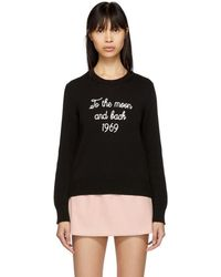 RED Valentino - Black To The Moon And Back Sweater - Lyst