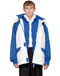 Martine Rose - Blue And White Rainforest Common Coat - Lyst