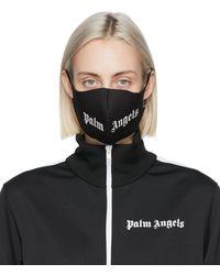 Palm Angels - ブラック ロゴ マスク - Lyst