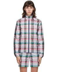 Noah Adidas Edition マルチカラー チェック ジャケット - ブルー