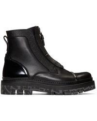 Ermenegildo Zegna ブラック Couture ショー ブーツ