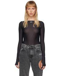 Off-White c/o Virgil Abloh Black Basic Sheer Bodysuit